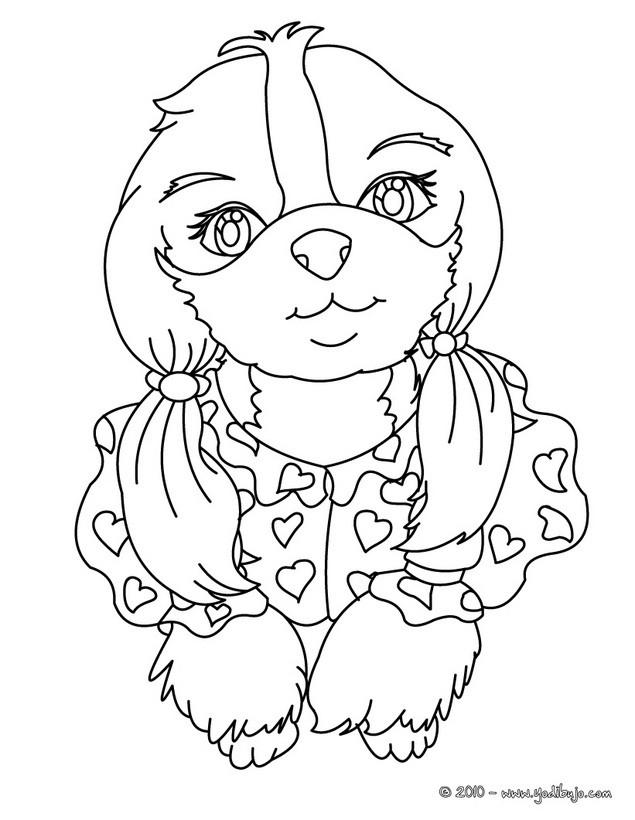 Dibujos para colorear cachorro pastor aleman - es.hellokids.com