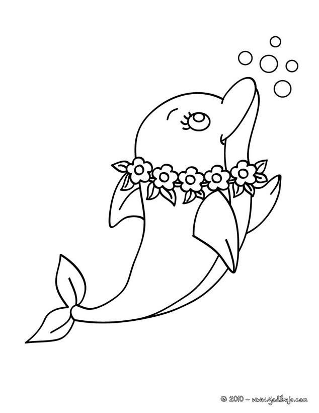 para colorear un delfin Tahiti es un dibujo para pintar muy bonito ...