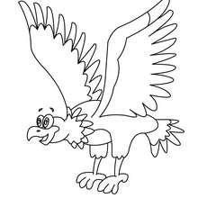Dibujo para pintar águila - Dibujos para Colorear y Pintar - Dibujos para colorear ANIMALES - Dibujos AVES para colorear - Dibujo para colorear AGUILA