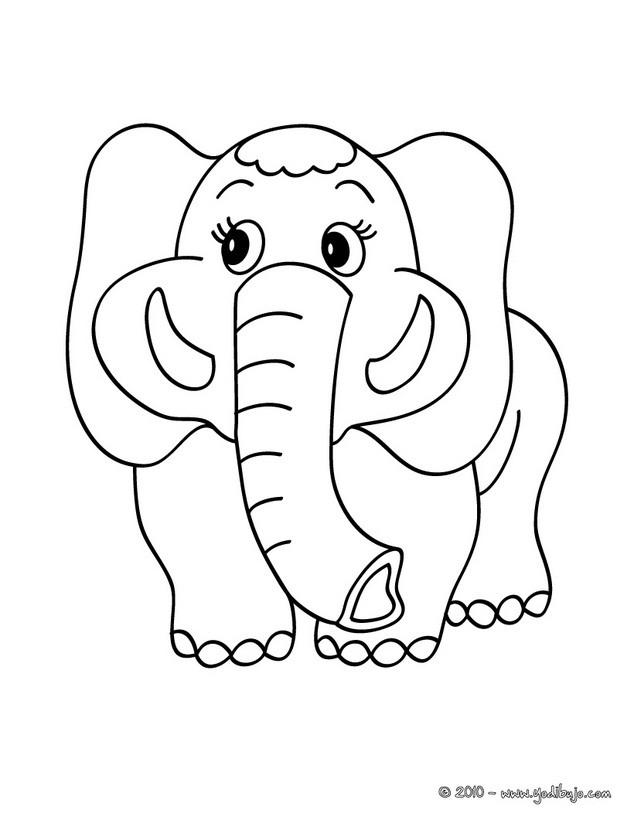 Dibujos para colorear cachorro elefante  eshellokidscom