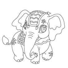 Dibujo para colorear ELEFANTE DE INDIA - Dibujos para Colorear y Pintar - Dibujos para colorear ANIMALES - Dibujos ANIMALES SALVAJES para colorear - Dibujos ANIMALES DE LA SABANA para colorear - Colorear ELEFANTE