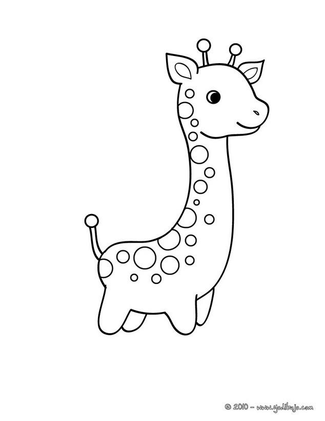 Dibujo para pintar una jirafa Dibujo de una JIRAFA Dibujo JIRAFA ...