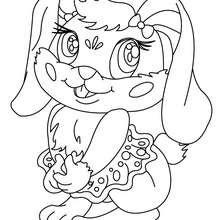 Dibujo para colorear CONEJITA - Dibujos para Colorear y Pintar - Dibujos para colorear ANIMALES - Dibujos ANIMALES DE GRANJA para colorear - Colorear CONEJOS - Dibujos para colorear e imprimir CONEJOS GRATIS