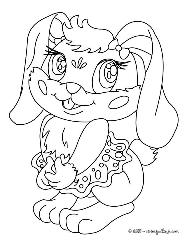 Dibujos para colorear conejita  eshellokidscom
