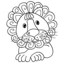 Dibujo para colorear : León para preescolares