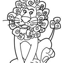 Dibujo para colorear : León para infantiles
