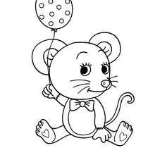 Dibujo para colorear RATON - Dibujos para Colorear y Pintar - Dibujos para colorear ANIMALES - Dibujos MASCOTAS para colorear - Dibujos RATON para colorear