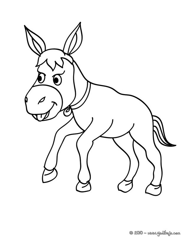 Dibujo la chica y el burro Dibujo BURRO Dibujo para colorear CRIA DE ...