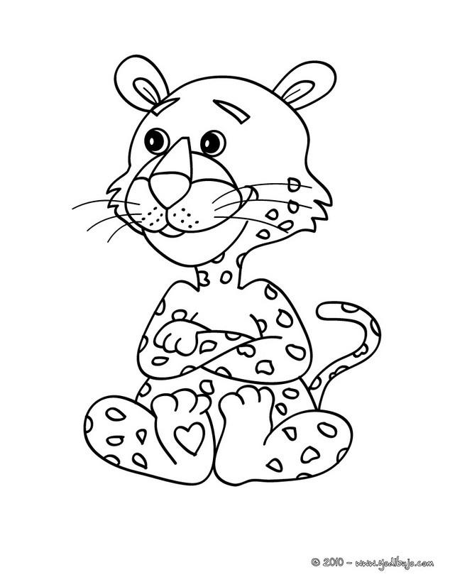 Dibujos para colorear cachorro jaguar - es.hellokids.com