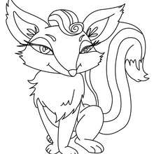 Dibujo para colorear ZORRA - Dibujos para Colorear y Pintar - Dibujos para colorear ANIMALES - Dibujos ANIMALES SALVAJES para colorear - Dibujos ANIMALES DE LA SELVA para colorear - Colorear ZORRO
