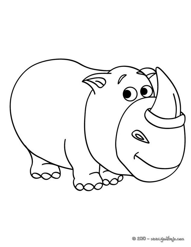Dibujos para colorear rinoceronte bebe - es.hellokids.com