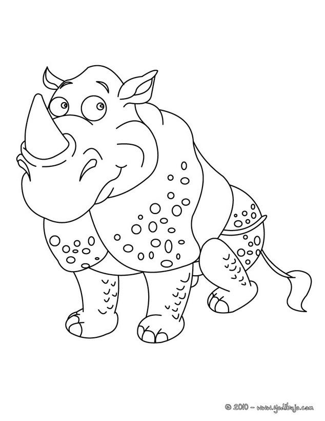 Dibujo para colorear : Rinoceronte Blanco