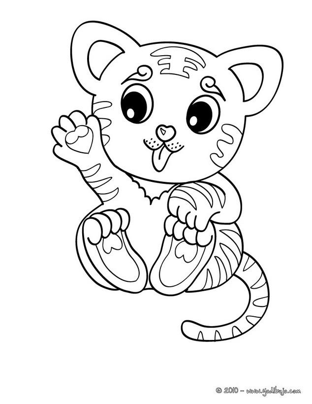 Dibujos para colorear cachorro tigre - es.hellokids.com