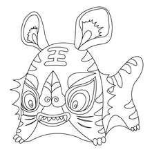 Dibujo para colorear TIGRE - Dibujos para Colorear y Pintar - Dibujos para colorear ANIMALES - Dibujos ANIMALES SALVAJES para colorear - Dibujos para colorear e imprimir ANIMALES SALVAJES - Colorear TIGRE