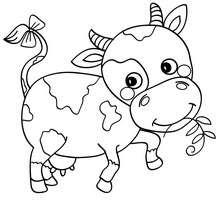 Dibujo para colorear TERNERO - Dibujos para Colorear y Pintar - Dibujos para colorear ANIMALES - Dibujos ANIMALES DE GRANJA para colorear - Colorear TERNERO