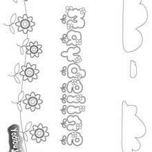 MAYDELINE colorear nombre niña - Dibujos para Colorear y Pintar - Dibujos para colorear NOMBRES - Dibujos para colorear NOMBRES NIÑAS