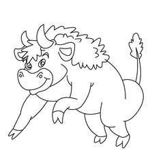 Dibujo BISONTE - Dibujos para Colorear y Pintar - Dibujos para colorear ANIMALES - Dibujos ANIMALES SALVAJES para colorear - Dibujos ANIMALES DE LA SABANA para colorear - Colorear BISONTE