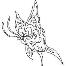 Dibujo para colorear : hermosa MARIPOSA MACAON