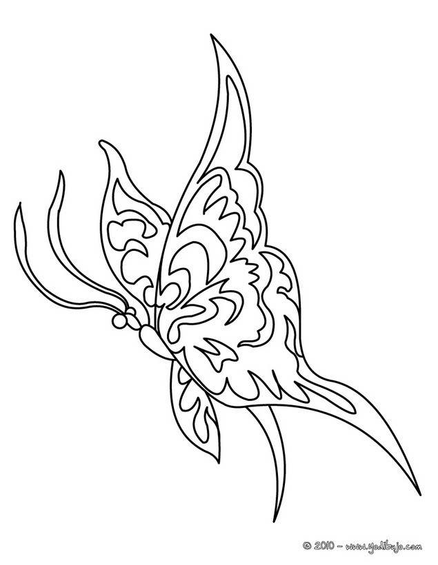 Dibujos para colorear hermosa mariposa macaon - es.hellokids.com