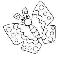 Dibujo de una MARIPOSA AZUL - Dibujos para Colorear y Pintar - Dibujos para colorear ANIMALES - Dibujos INSECTOS para colorear - Dibujos para colorear MARIPOSAS - Colorear MARIPOSA AZUL