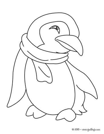 Dibujos para colorear un pinguino - es.hellokids.com