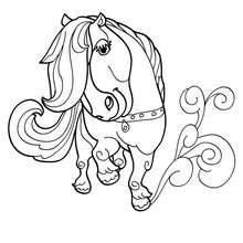 Dibujo para colorear HERMOSO PONI - Dibujos para Colorear y Pintar - Dibujos para colorear ANIMALES - Colorear CABALLOS - Dibujos de PONIS para colorear - PONIS para colorear e imprimir