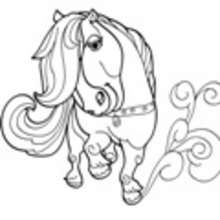 caballo, Dibujos de PONIS para colorear