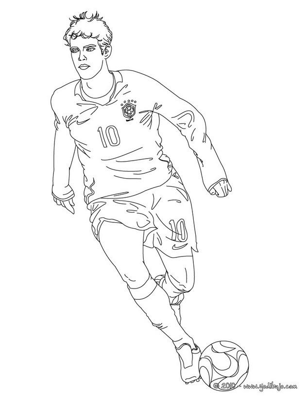 FUTBOLISTAS para colorear - pintar los 48 mejores jugadores de fútbol
