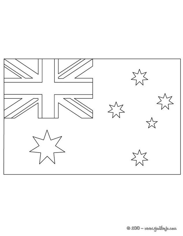 Dibujos para colorear bandera australia - es.hellokids.com
