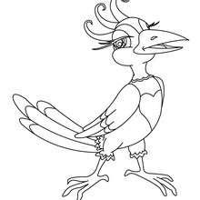 Dibujo de PAJARO CHISTOSO - Dibujos para Colorear y Pintar - Dibujos para colorear ANIMALES - Dibujos PAJAROS para colorear - Dibujos para pintar PAJAROS