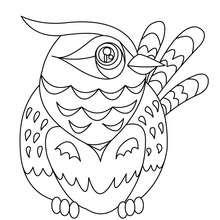 Dibujo de LECHUZA - Dibujos para Colorear y Pintar - Dibujos para colorear ANIMALES - Dibujos AVES para colorear - Dibujos para colorear BUHO