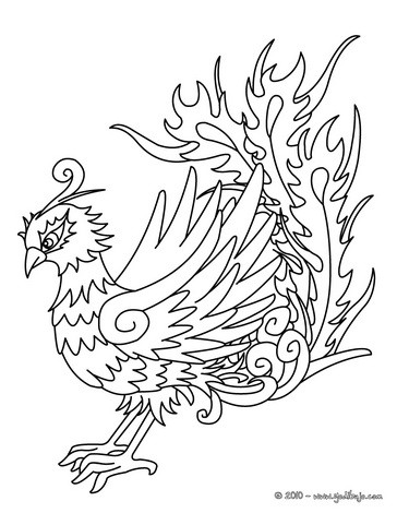 Dibujo para colorear : PAVO REAL