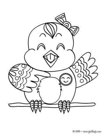 Dibujos para colorear un hermoso pajaro - es.hellokids.com