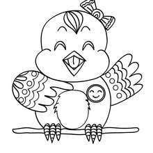 Dibujo de CANARIO - Dibujos para Colorear y Pintar - Dibujos para colorear ANIMALES - Dibujos AVES para colorear - Colorear CANARIOS
