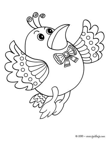 Dibujos para colorear un pajarito - es.hellokids.com