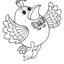 Dibujo de un PAJARITO - Dibujos para Colorear y Pintar - Dibujos para colorear ANIMALES - Dibujos PAJAROS para colorear - Dibujos para pintar PAJAROS