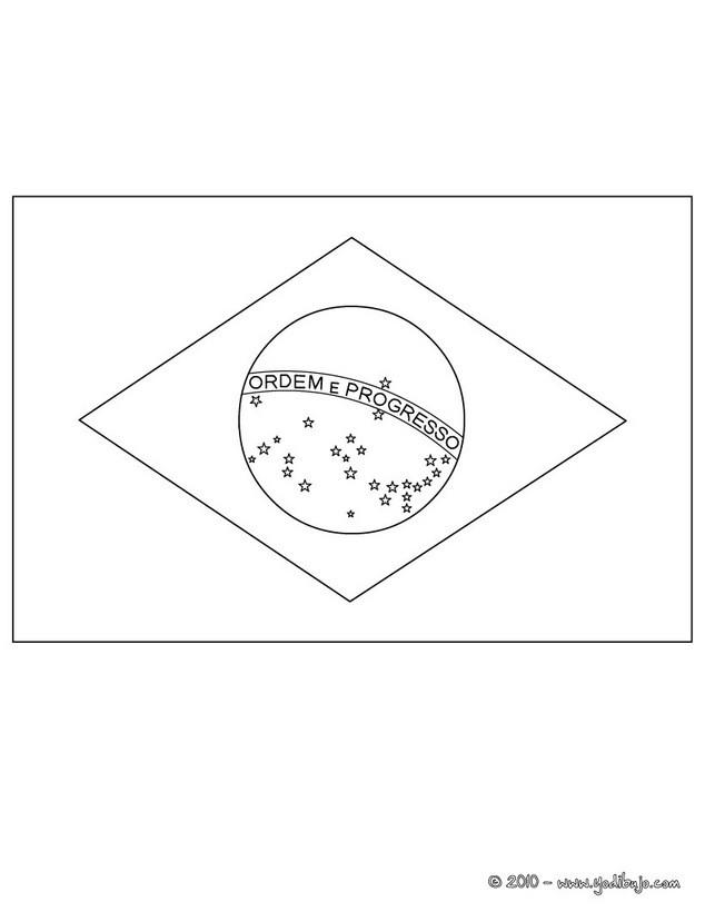 Dibujos para colorear bandera brazil - es.hellokids.com