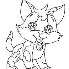 Dibujo de GATITO FELIZ - Dibujos para Colorear y Pintar - Dibujos para colorear ANIMALES - Dibujos GATOS para colorear - Dibujos para colorear GATITOS