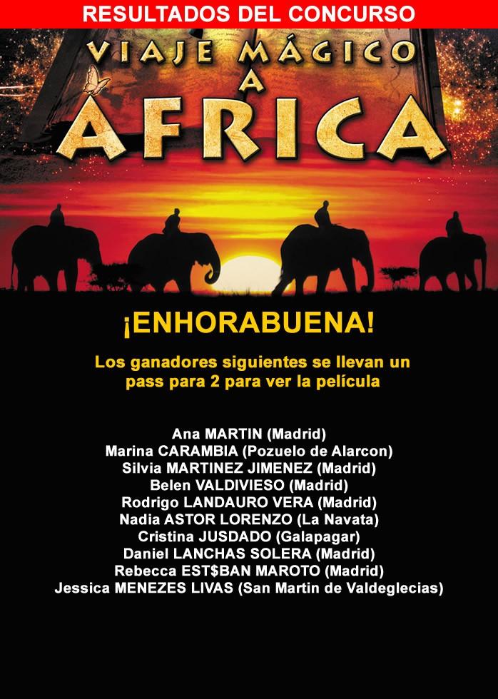 Resultados del concurso Viaje a África