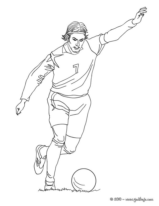 Dibujos para colorear david beckham - Coloriage footballeur ...