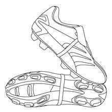 Dibujo para colorear : Botas de Fútbol