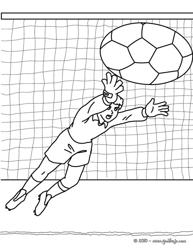 Dibujos para colorear balón de fútbol - es.hellokids.com