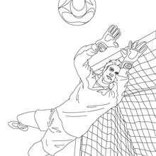Dibujo para colorear : Palomita del portero