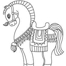 Dibujo CABALLO APRETADO - Dibujos para Colorear y Pintar - Dibujos para colorear ANIMALES - Colorear CABALLOS - Dibujos de CABALLOS para colorear e imprimir