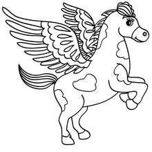 Dibujo CABALLO ALADO - Dibujos para Colorear y Pintar - Dibujos para colorear ANIMALES - Colorear CABALLOS - Dibujos de CABALLOS para colorear e imprimir