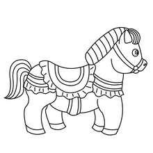 Dibujo PONI APRETADO - Dibujos para Colorear y Pintar - Dibujos para colorear ANIMALES - Colorear CABALLOS - Dibujos de PONIS para colorear - Dibujos de PONIS BEBES