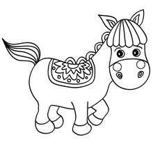 Dibujo PONI CHISTOSO - Dibujos para Colorear y Pintar - Dibujos para colorear ANIMALES - Colorear CABALLOS - Dibujos de PONIS para colorear - PONIS SHETLAND para pintar