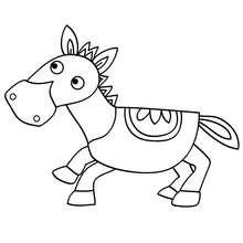 Dibujo BURRO - Dibujos para Colorear y Pintar - Dibujos para colorear ANIMALES - Dibujos ANIMALES DE GRANJA para colorear - Colorear BURRO
