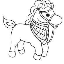Dibujo PONI SALVAJE - Dibujos para Colorear y Pintar - Dibujos para colorear ANIMALES - Colorear CABALLOS - Dibujos de PONIS para colorear - Dibujos de PONIS BEBES