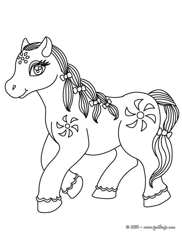 ... para colorear HERMOSO PONI Dibujo para colorear PONI Dibujo de ponis